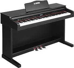 SUNCOO E-600 Digital Piano LCD Keyboard 88 Tasten mit 3 Pedale, Adapter & USB/MIDI Schwarz
