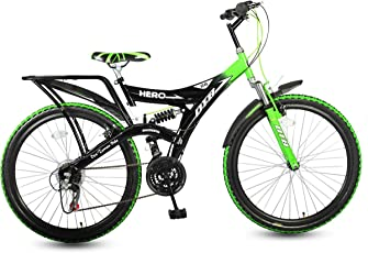 Hero Ranger 18 Speed DTB Vx 26T Mountain Bike - Black and Green