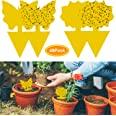 YHmall 48Pcs plug-in fly trap yellow plates yellow sticker protection plant from the mosquito aphids, leaf flies and vermin,