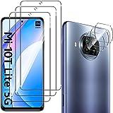 QULLOO voor Xiaomi Mi 10T Lite 5G Glas Screen Protector [3 Pack] + Camera Lens Glas Protector [3 Pack], Ultra Resistant 9H Ha