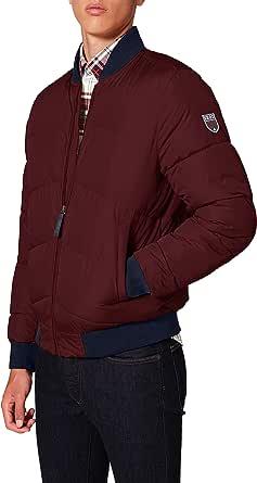 IZOD Men's Bomber Puffer Jacket, Red (Port Royale 606), S