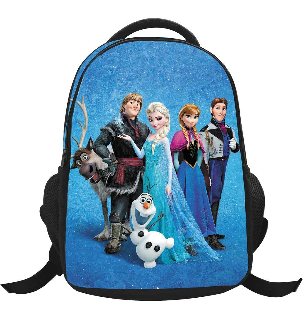 MissFox Zainetto Asilo Ragazze Zaino Frozen Principesse Anna E Elsa E Olaf Backpack School Bag A18