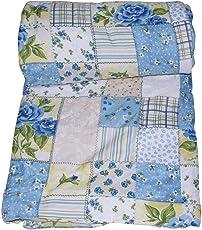 Handcraftd AC Quilt/Blanket - Floral Soft Designer Double Bed - Multicolor