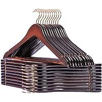 HOUSE DAY Paquet de 32 cintres en Bois Strong Premium Manteau en Bois cintres de Pantalon Costume cintres antidérapants…