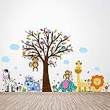 """Walplus Verwijderbare zelfklevende muursticker """"Froh London Zoo"""" muurschildering kunst kinderkamer baby kinderen kamerdecorat"""