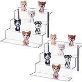 LileZbox Présentoir en acrylique pour figurines Funko Pops, Amiibo Grande étagère 4 niveaux Pour cupcakes et desserts 30,5 x