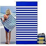 carinacoco Strandtuch Sandfrei 180X90CM, Strandhandtuch Mit Streifen Strandtuch Groß Strandlaken Schnelltrocknend Strand Tuch