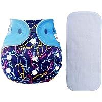 "Sunbaby ""TicklyBottom"" Reusable Washable Waterproof Baby Cloth Diaper +1 Dryfeel highly absorbent Insert, Open Pocket…"