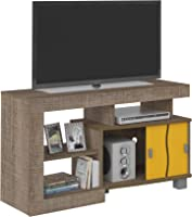 Artely Senna TV Table for 42 inch TV, Cinnamon / Cinnamon with Yellow - H 65 cm x W 105.5 cm x D 40 cm