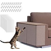 WELLXUNK Kratzschutz for Katze Hund,6 PCS Katze Kratzschutz Sofa, Kratzabwehr Katzen,Transparent Katze Klebeband…