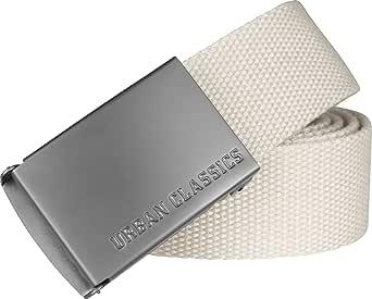 Urban Classics Canvas Belt Cintura con Fibbia Scorrevole in Metallo, Regolabile, 100% Poliestere, Lunghezza 118 cm Unisex-Adulto