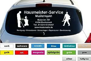 Don Cappello Hausmeister Service Werbung Autobeschriftung Aufkleber Heckscheibe Kfz B 40cm Auto