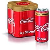 Coca-Cola Senza Caffeina 330 ml - 4 lattine
