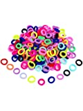 World Zone Enterprises Girl's Mini Elastic Soft Rubber Hair Bands for Kids (Multicolour) -24 Piece