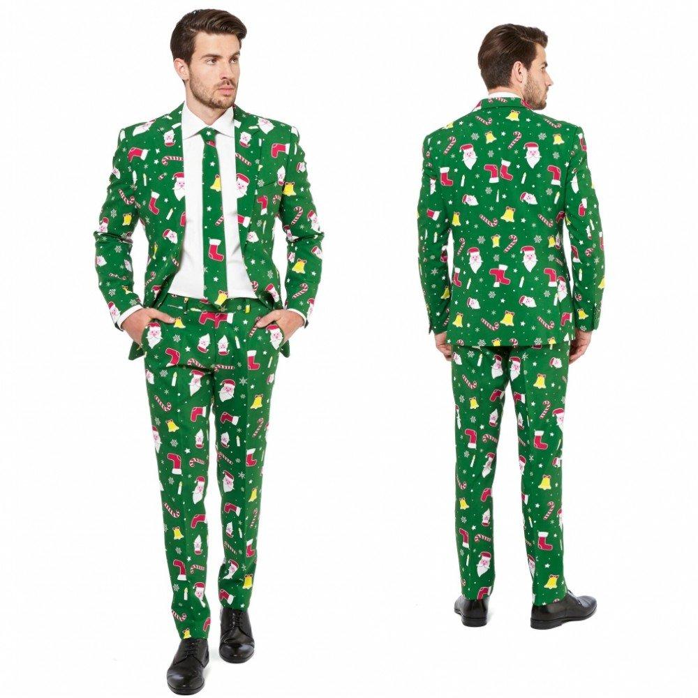 Vestito Babbo Natale Taglia 60.Dettagli Su Opposuit Vestito Di Santa Boss Taglia 60 Costume Di Carnevale Di L2q