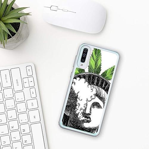 Marijuana Custodia Samsung Galaxy A10 A20 A30 A40 A50 A70 M10 M20 M30 2019 Plastica Silicone Phone Case Cassa Del Telefono Regalo Phone Cover canabis marijuana pianta