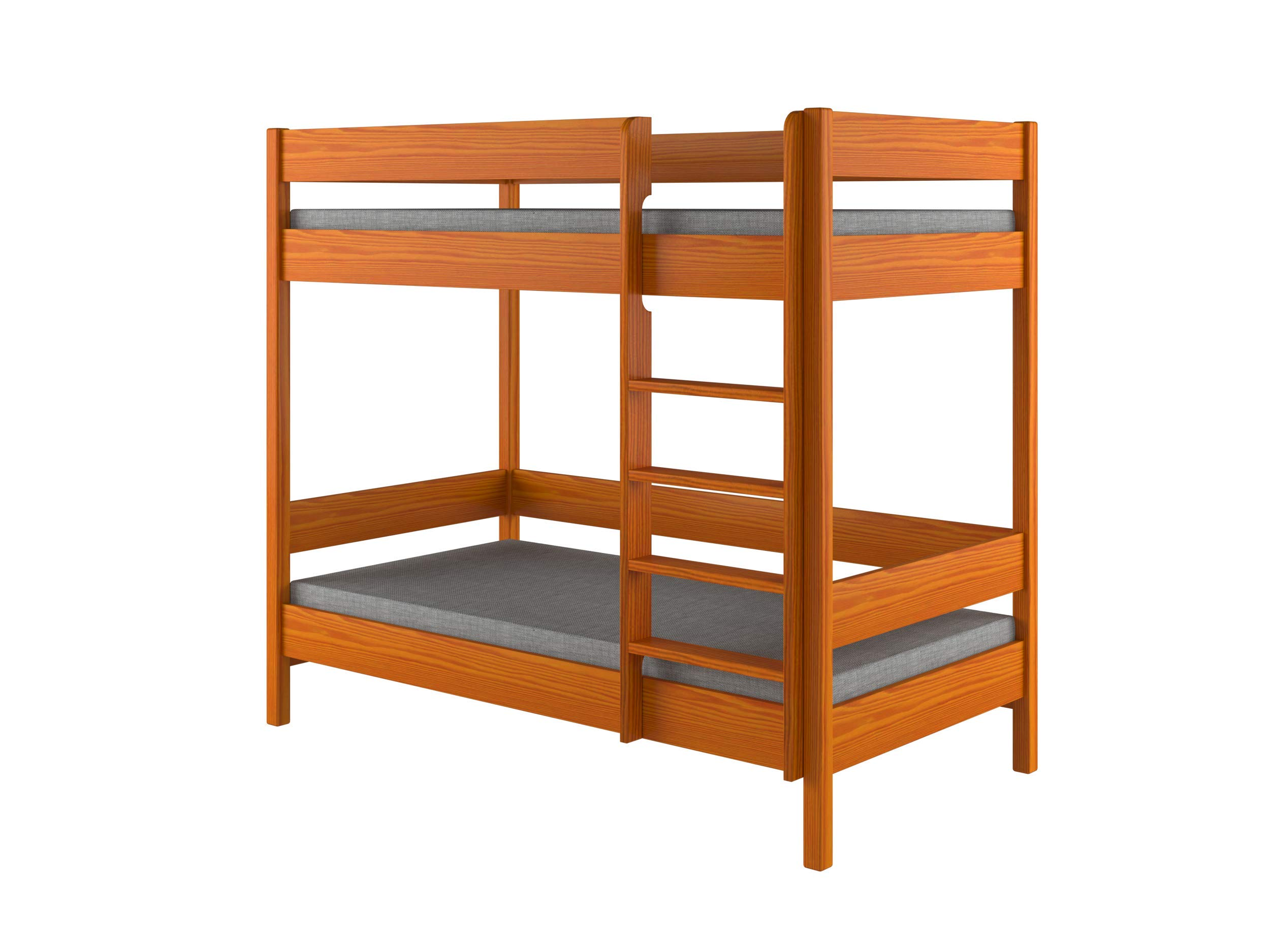 Children's Beds Home Bunk Beds - Kids Children Juniors Single with 2 Foam - Coconut Mattress but No Drawers Included (200x90, Alder) Children's Beds Home Bed with barriers internal dimensions: 140x70x160, 160x80x160, 180x80x160, 180x90x160, 200x90x160. External dimensions: 147x77x160, 167x87x160, 187x87x160, 187x97x160, 207x97x160 Bunk Bed with access from the - Front (D-1), Universal bed entrance - left or right side. 1