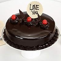 Ferns 'N' Petals Love You Valentine Truffle Cake Half Kg Eggless| Birthday Cake| Anniversary Cake|Next Day Delivery