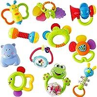 WISHTIME Sonagli per Bambini Giocattoli, Giochi Neonati Infantile Scuotendo la Campana Set sonaglio con Conservazione…