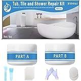 Tub, Tegel en Douche Reparatie Kit, 5oz Wit Badkuip Crack Refinishing Kit voor Porselein, Acryl, Glasvezel