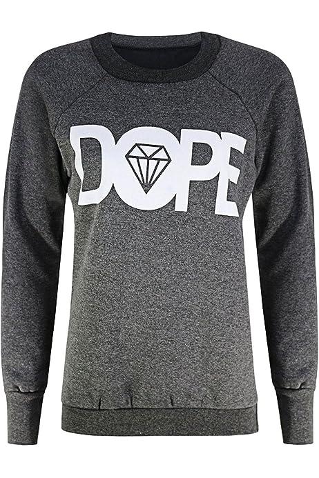 New Womens Ladies Brooklyn 76 Print Jumper Pullover Sweatshirt Top Sweats Casual