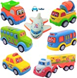 FunBlast Unbreakable Pull Back Vehicles   Push and Go Crawling Toy Car for Kids & Children, Friction Power Car Toy for 3+ Years Old Boys Girls (Set of 7)
