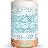 SALKING Aroma diffuser, 100ml metaal ultrasone aromatherapie diffuser voor etherische oliën, 7 kleuren nachtlampje aromadiffu