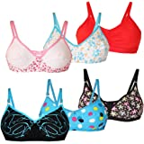 LIME Women's Cotton Non Padded Non-Wired Bra (Pack of 6)