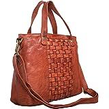 STILORD 'Mara' Elegante Handtasche geflochtenes Leder mit abnehmbaren Schulterriemen Abendtasche Ausgehtasche Echtleder