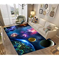 PEIHUODAN Grand Petit 3D Tapis Chambre Enfant Garcon Ado Fille Bebe Galaxy Univers Etoile Terre Coloré Moderne Tapis…