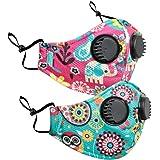 Chumbak Outdoor Reusable Masks V2 Kids Set of 2 - Face Masks, Printed Masks with Adjustable Ear Loop, Fabric Face Mask…