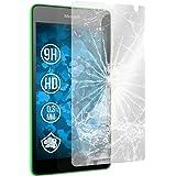 PhoneNatic 2 x Glas-Folie klar kompatibel mit Microsoft Lumia 535 - Panzerglas für Lumia 535