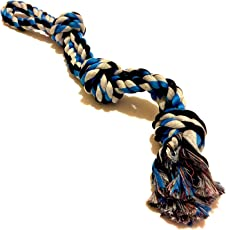 Foodie Puppies Thick Chew Knots Extra Durable Washable Toy for Aggressive Chewers for Large Dogs (Colour May Vary)