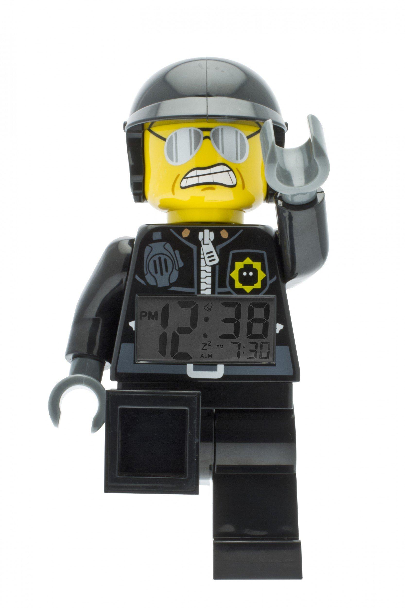 LEGO-City-9009952-Sveglia-Retroilluminata-per-Bambini-Minifigure-Poliziotto-NeroBianco-Plastica-Altezza-24-cm-circa-Display-LCD-BambinoBambina-Ufficiale