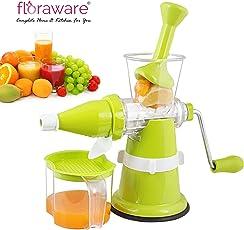 Floraware Modern Fruit and Vegetable Juicer, 250ml, Green