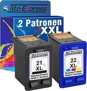 Tito Express Platinumserie Set 2x Druckerpatrone Für Hp 21 Xl Hp 22 Xl Deskjet F2180 Psc 1402 Psc 1410 Psc 1415 Bürobedarf Schreibwaren