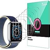 TOCOL 6 Piezas Protector de Pantalla Compatible para Apple Watch Series 5 4 44mm y Apple Watch Series 3 2 1 42mm HD Clear Sof