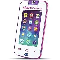 VTech - KidiCom Advance Blanc et Rose, le portable enfant sans forfait - Version FR