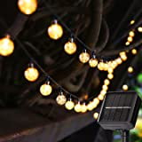 Solar String Lights 23ft 50 LED Outdoor Garden Lights Solar Powered 8 Modes Fairy Lights Auto On/Off In-Ground Stake Lights D