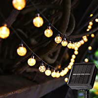 Solar String Lights 23ft 50 LED Outdoor Garden Lights Solar Powered 8 Modes Fairy Lights Auto On/Off In-Ground Stake…