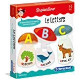 Clementoni - 11964 - Sapientino - Le Lettere - gioco per imparare le lettere, puzzle incastro bambini, tessere illustrate - g