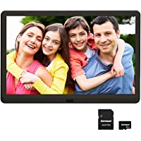 Digital Photo Frame 10 inch with 32GB SD Card, Kenuo 1920x1080 High Resolution 16:9 FHD IPS Screen Digital Picture…
