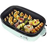 TTLIFE Barbecue électrique multifonction électrique avec Hot Pot, 3 en 1 et plaque de cuisson