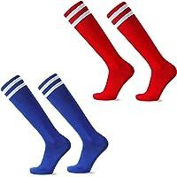 EQLEF Children's Football Socks Long, Comfortable Thin section Children's Football Socks Breathable, Stylish Football…