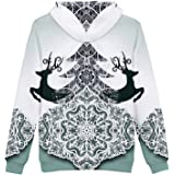 Huashang New all-Match Christmas 3D Hooded Sweater