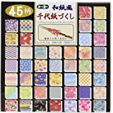 Papier à origami réversible 15cm x 15cm - Toyo - Washifu - Chiyogami - Ryoumen - Chiyogami - Zukushi