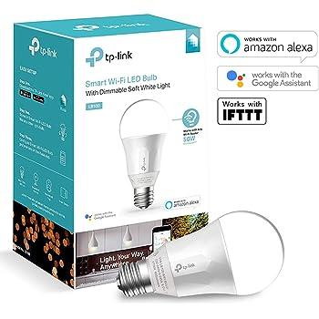TP-Link smarte WLAN Glühbirne, E27, 7W, funktioniert mit Amazon Alexa (Echo und Echo Dot), Google Home und IFTTT, dimmbar warmweiß, kein Hub erforderlich