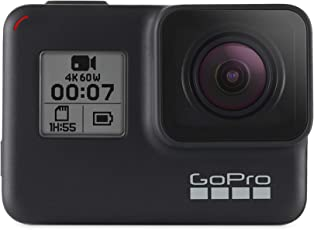 GoPro  HERO7  Black  –  wasserdichte  digitale  Actionkamera  mit  Touchscreen,  4K-HD-Videos,  12-MP-Fotos,  Livestreaming,  Stabilisierung