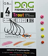 pro-bite Tungsten und Haken der Firma FishUp mit Öhr in der Größe 4