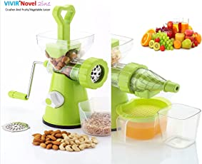 Vivir Plastic Juicer for Fruits and Vegetables with Nuts Crusher and Gravy Maker (Green)